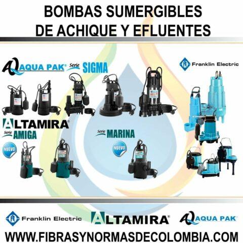 BOMBAS SUMERGIBLES DE ACHIQUE Y EFLUENTES