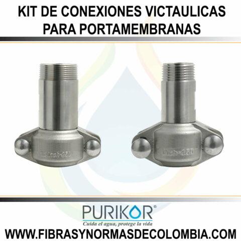 KIT DE CONEXIONES VICTAULICAS PARA PORTAMEMBRANAS