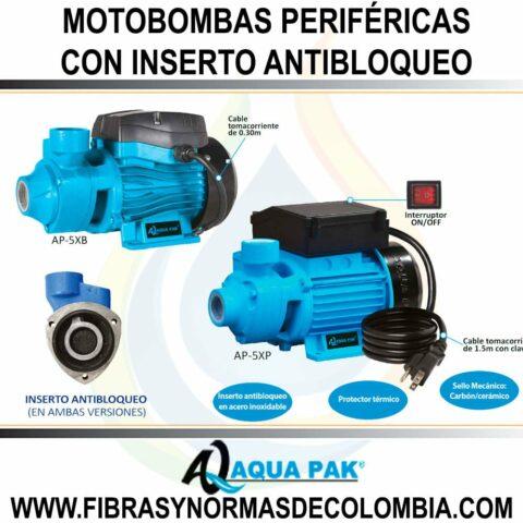 MOTOBOMBAS PERIFÉRICAS CON INSERTO ANTIBLOQUEO